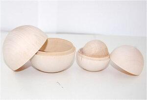 白木のマトリョーシカおだんご型3個組【マトリョーシカ】