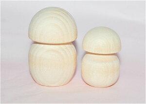 工作に最適!白木のマトリョーシカ型単体2cmおもしろい形の白木材料【マトリョーシカ】