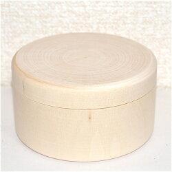 白木の円形小箱直径6.2cm高さ4.5cm深さ2.9cm【マトリョーシカ】おもしろい形の白木材料