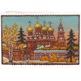 ロシアの新進アーティスト厳選作品!セルゲイポサード「古代ロシア教会の風景」木製小箱