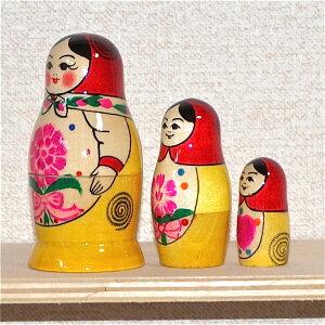 母の日マトリョーシカ5個組(赤頭巾)【マトリョーシカ柄】