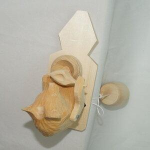 ボゴローツコエ木のからくりおもちゃ「大好きなハチミツ!」〜ハチミツの壺を抱え、舐めるクマさん