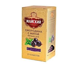 ロシア紅茶 МАЙСКИЙ マイスキー社ティーバッグ「ブラックカラント&ミント 2g×25p」セイロンティー