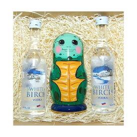 感謝の気持ちを一緒に込めてみんなで送ろう!しあわせを運ぶウミガメのマトリョーシカ 5個組&ウォッカミニボトル2本セット