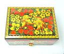 ホフロマ アクセサリーBOX(特大・引き出し付) 「豪華絢爛・不死鳥とイチゴ柄」