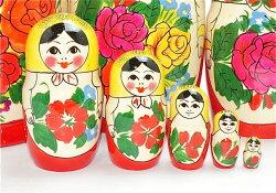 BIGロシヤーノチカ9個組黄頭巾22cm【マトリョーシカ】