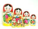 【RCP】BIGロシヤーノチカ 8個組 赤頭巾 19cmロシア人形【マトリョーシカ】