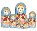 【RCP】美・マトリョーシカ 8個組花かごを持つ少女【楽ギフ_包装】 【マトリョーシカ】