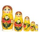 いちごマトリョーシカ 5人姉妹「ワイルドストロベリー (YELLOW)」【マトリョーシカ】