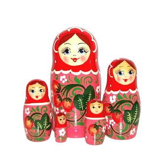 草莓matoryoshika 5個姐妹紅×粉紅
