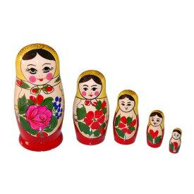 ロシア伝統柄ロシヤーノチカ 5個組 (color : イエロー)【マトリョーシカ】