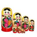 【RCP】BIGロシヤーノチカ 8個組 黄色頭巾ロシア人形【マトリョーシカ】