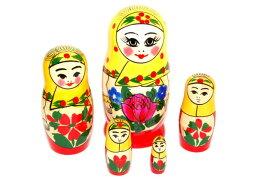 ロシア伝統柄ロシヤーノチカ 5個組(プラトーク巻き)【マトリョーシカ】