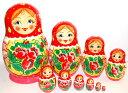 カラフルアニュータ 10個組(赤頭巾ケシの花)【マトリョーシカ】