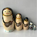 Smile Box スマイルボックス「ペンギンさんのギターリスト・マトリョーシカ」11センチ5個組 マトリョーシカ【マトリョーシカ】
