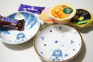 みよしのりよ砥部焼小皿「ロシアさん小花」4寸皿13cm【マトリョーシカ】