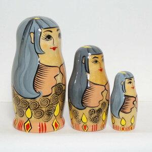 オリジナル商品!神池姫マトリョーシカ木目タイプ