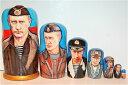 大統領マトリョーシカ 7個組(20.5cm)「プーチン大統領(ロシア)」【マトリョーシカ】