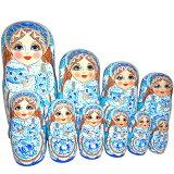 大統領マトリョーシカ5個組(14cm)「プーチン大統領(ロシア)」【マトリョーシカ】