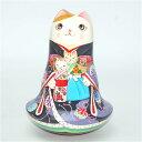 ショコラ工房のマトリョーシカシリーズ起き上がりこぼし大★HINAASOBI(雛あそび)三毛猫【マトリョーシカ】