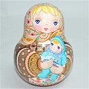 ショコラ工房のマトリョーシカシリーズ起き上がりこぼし丸形Bohemian Baby(ボヘミアンベイビー)R.P赤ちゃんを抱くマト【マトリョーシ…