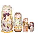 ショコラ工房のマトリョーシカШоколад-Chocola(ショコラ ショコラ)16センチ5個組タイプ【マトリョーシカ】