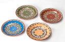ブルガリア工芸 トロヤン陶器 トロヤンのしずく小皿 プレート 小サイズ 直径18cm