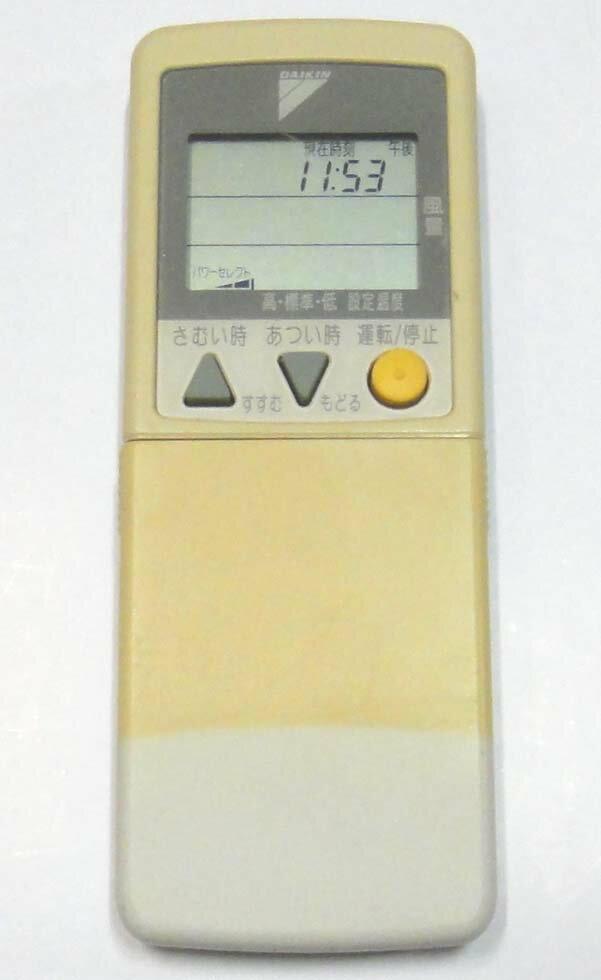【中古】DAIKIN エアコンリモコン ARC418A1