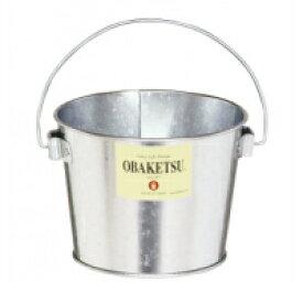 OBAKETSU ミニオバケツ1L シルバー バケツ 小さい インテリア 卓上 小物入れ 収納 整理 鉢カバー グリーン オシャレ かわいい シンプル トタン ブリキ 取っ手付き 持ち手 日本製 職人手作り