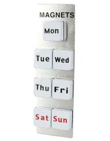 DULTON MAGNETS OF THE WEEK マグネットオブザウィーク ダルトン マグネット 一週間 お便り お知らせ 書類 貼り付け おしゃれ かわいい ホワイト 白 英語 文字 磁石 曜日 シンプル レトロ 冷蔵庫 黒板 デスク オフィス 文房具 文具 キッチン 雑貨 ギフト メール便
