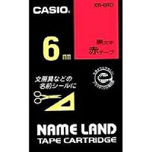 カシオ ネームランド テープカートリッジ 6mm XR-6RD