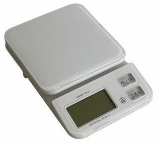 ドリテック キッチンスケール 2kg計 ホワイト KS-221WT