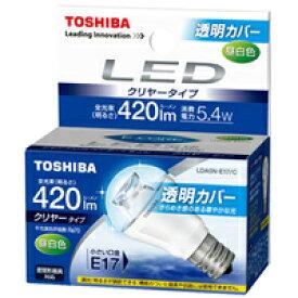 【在庫あり】 東芝 D3-2 LED電球 ミニクリプトン形 クリヤータイプ 昼白色 E17 全光束420lm 5.4W LDA5N-E17/C