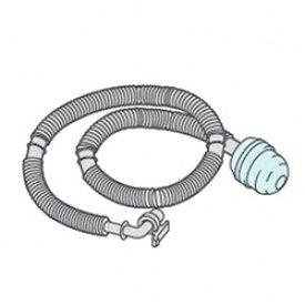 【在庫あり】 東芝 洗濯機用抗菌剤入りふろ水用給水ホース 7m 42040813