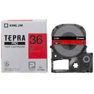 【訳あり】【在庫あり】 アウトレット キングジム テプラPROテープ SC36R(赤/黒文字 36mm幅)