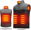電熱ベスト 加熱ベスト ヒートジャケット 加熱服 VestUSB充電式 電熱ベスト ダブルスイッチ 前後独立温度設定可能 3段…