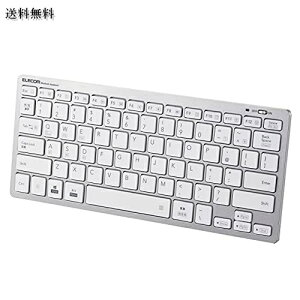 エレコム Bluetooth マルチペアリング ミニキーボード パンタグラフ式 軽量・薄型 3台同時ペアリング mac OS/iPad OS/Window OS対応 シルバー TK-FBP102SV/EC