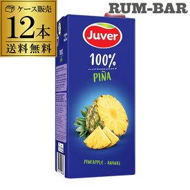 送料無料 Juver フベル パイナップル100%ジュース 1L×12本 ケース販売 長S