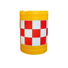 クッションドラム 丸型 赤白 水袋5個入り バンパードラム セーフティドラム セフティドラム