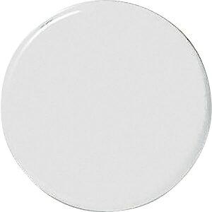 強磁力カラーマグネット(ボタン型) 白 30Φ×7mm 2個組 両面磁力 315021 日本緑十字