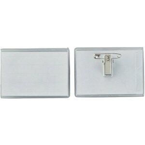 名刺型名札(ソフトケース) 内寸50×75mm 5個組 両用クリップ付 301117 日本緑十字