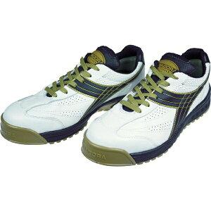 ドンケル DONKEL DIADORA 安全作業靴 ピーコック 白/黒 24.0cm PC12240