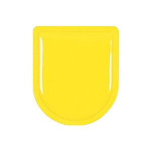 ワッペン 黄色無地 胸章 80×70 888-Y