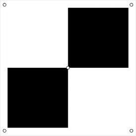 ドローン用対空標識プラス型(白黒) 6300001178 グリーンクロス