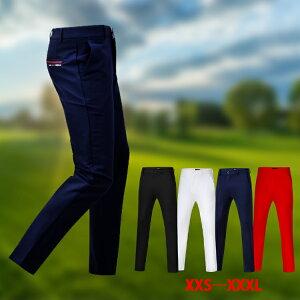 ゴルフウェア メンズ パンツ ゴルフパンツ 春夏 メンズ ロングパンツ カラーパンツ メンズ ウェア ストレッチ ズボン パンツ 大きいサイズ〜小さいサイズ 父の日 ホワイト ネイビー ブラッ