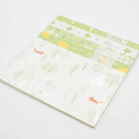 おしゃれなデザインペーパーみどりセット mycity 紙もの おしゃれ かわいい スクラップブッキング ペーパークラフト 紙 グリーティングカード お花 植物
