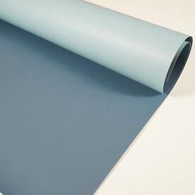 写真背景紙 880mm×580mm 両面 バックペーパー ペーパーシート くすんだ青とくすんだ水色