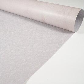 写真背景紙 875mm×56mm 両面 バックペーパー ペーパーシート くしゅとした紙柄と白いアンティークな石柄