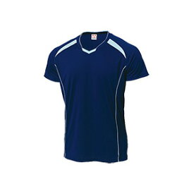 WUNDOU (ウンドウ) バレーボールシャツ ネイビー×サックス P-1610 1710 メンズ 紳士 男性 バレーボール ウェア