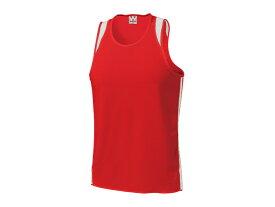 WUNDOU (ウンドウ) ランニングシャツ レッド×ホワイト P-5510 1710 メンズ 紳士 男性 陸上 ウェア